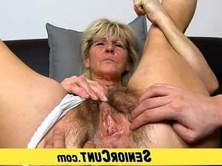 fingering  grandma  hairy