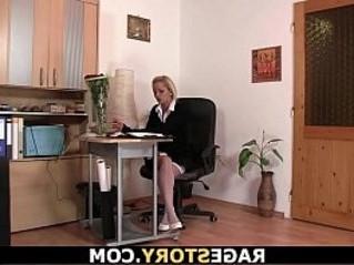 blonde  grandma  office