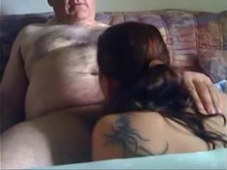 chick  old man  sucking